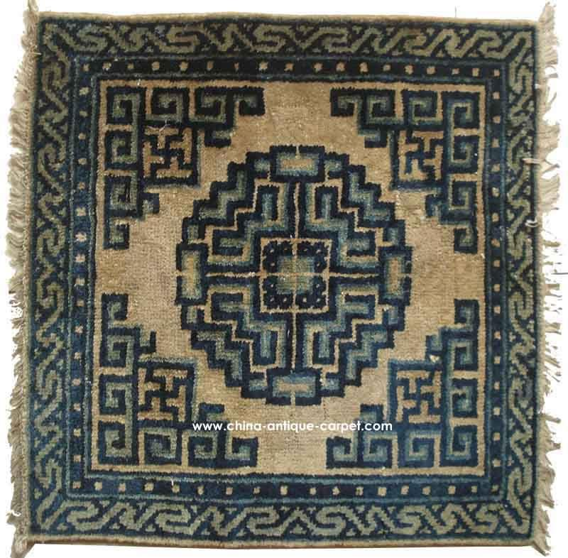 S/N:I0981 Antique Mongolia Rug Circa:100years 0.55 X 0.56