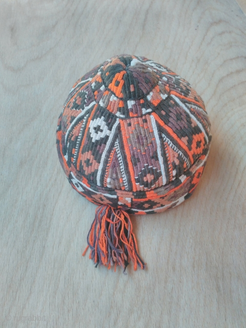 Turkmen hat, silk embroidery good condition