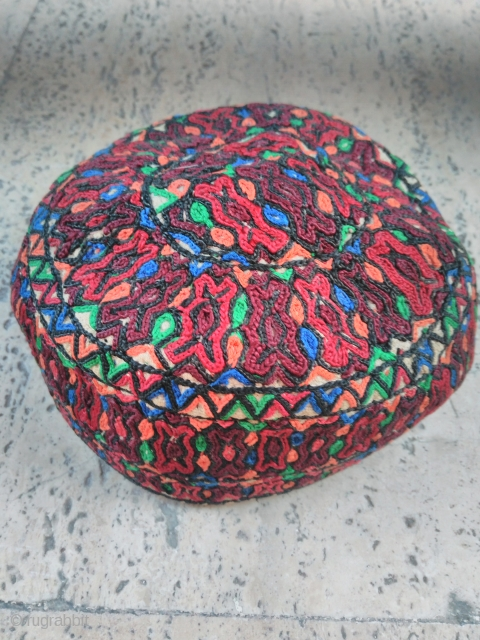 Turkmen hat 20th century silk embroidery
