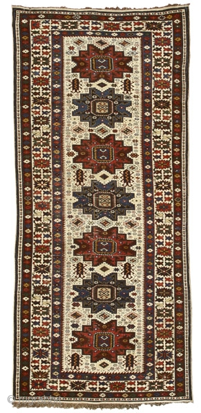 White ground Shirvan rug with Lesghi stars