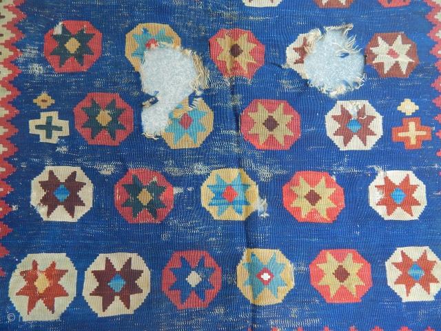 Old Qashqaii Kilim Fragment