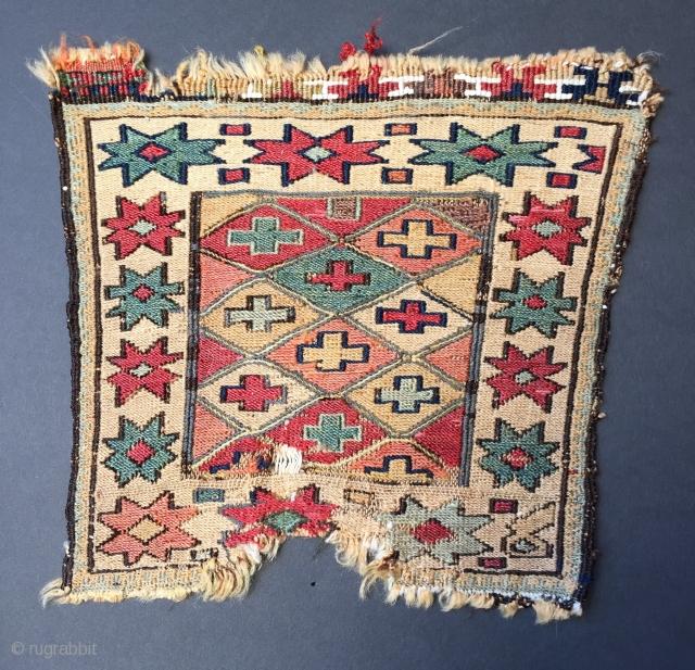 Sweet little Shasavan sumac chanteh pre 1880 size 31 x 29 cm All natural colours some cotton at top