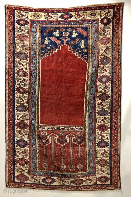 Super antique Turkish Ladik prayer rug ca 1800