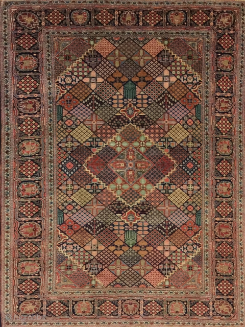 persian rug antique kashan good condition  size 212x136