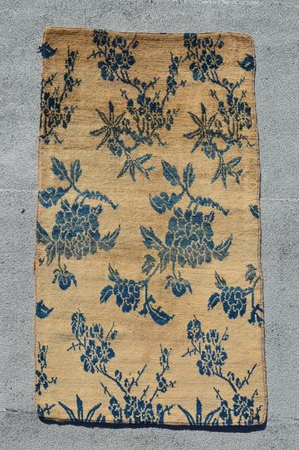 """Tibetan Floral Khaden. 5'2"""" x 3'."""
