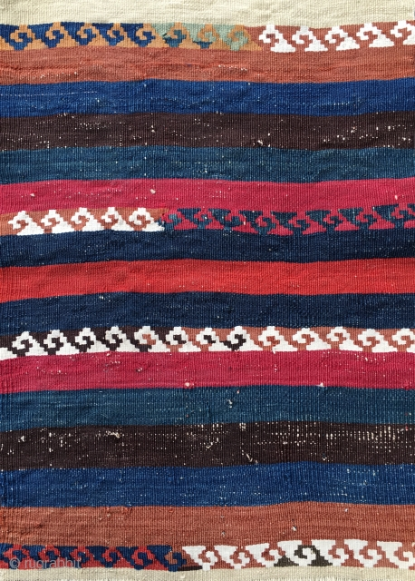 Nothing special, but worth having a look. Eastern Anatolia kilim fragment. Cm 41x57. Over 100/120 years old, terrific natural colors, minimalistic pattern. Definitely a small jewel.