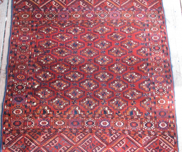 """Antique Tekke Rug  --  40""""  x  43 1/2""""  --  All Natural dyes; Excellent Condition; Has one small crease in the border, otherwise full pile throughout. Has  ..."""