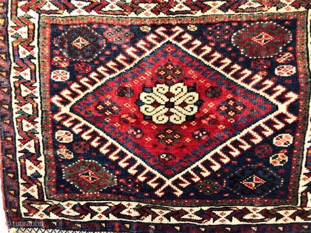 Antique Persian Qashqai Bag Face