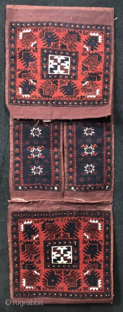 Anatolian Beautiful Condition Yağcıbedir Saddle Bag (Heybe) Size 43x123 cm / 1'5'' x 4'1''