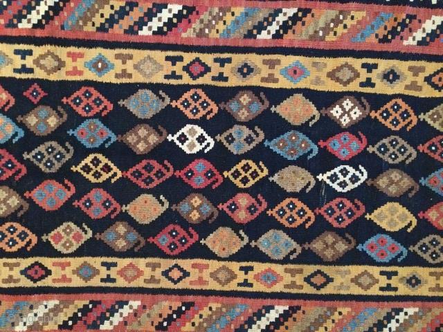 Bakhtiari kilim in fine condition.from Sefid dasht village.Size:290x110 cm