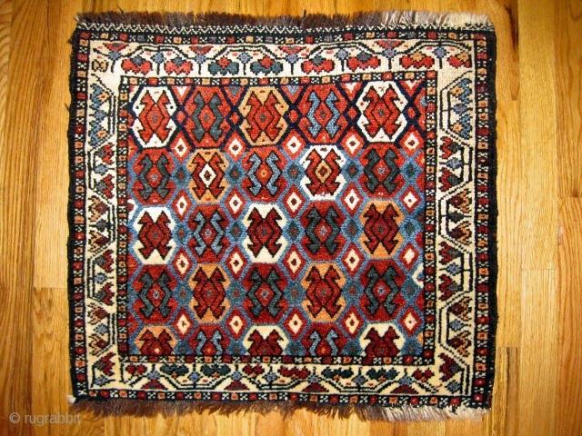 """Shahsavan piled bag, Persia,circa 1880, good condition, 2'2.""""x1'.11""""(0.66x0.58cm)"""