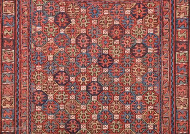 Very Fine Shahsavan Sumak circa 1860-70 size 49x54 cm