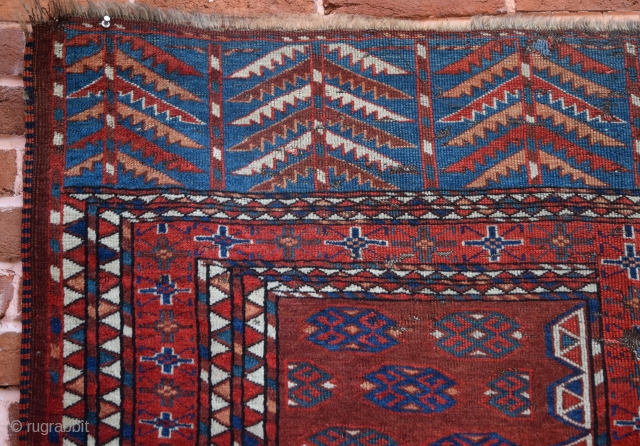 Early 19th Century Yomud Engsi 135x176 cm
