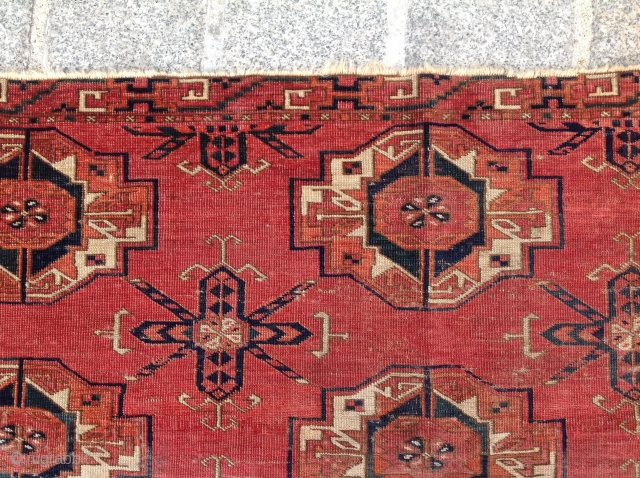 18th Century Tekke six gul torba size 46x113 cm