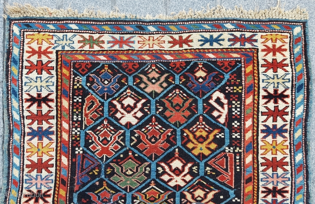 Colorful Shirvan Rug circa 1870 size 93x137 cm