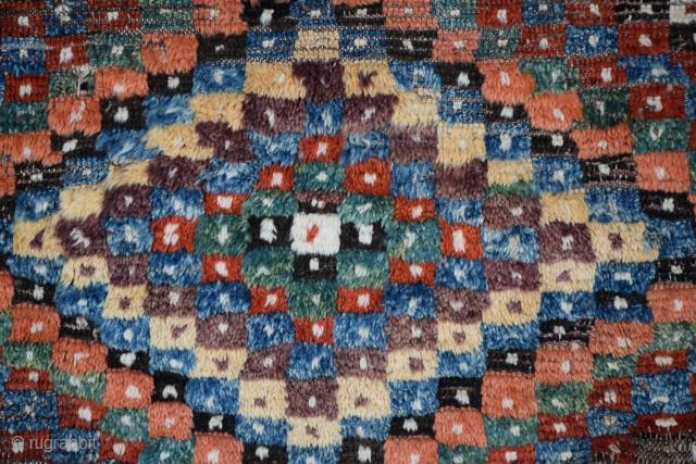 "Anatolian pile rug fragment, Eskisehir-Afyon region (tentative), 53"" x 68"", professionally washed and mounted."