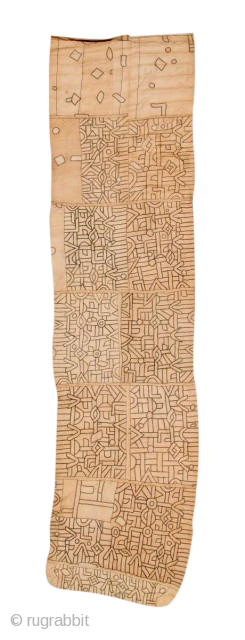 Early Kuba raffia applique textile, a rare piece of tribal art from the Democratic Republic of the Congo, early 20th century. 