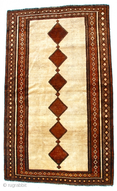 Persian Kurdish Gava or Gabbeh, beautiful design, excellent condition for age, early mid century.