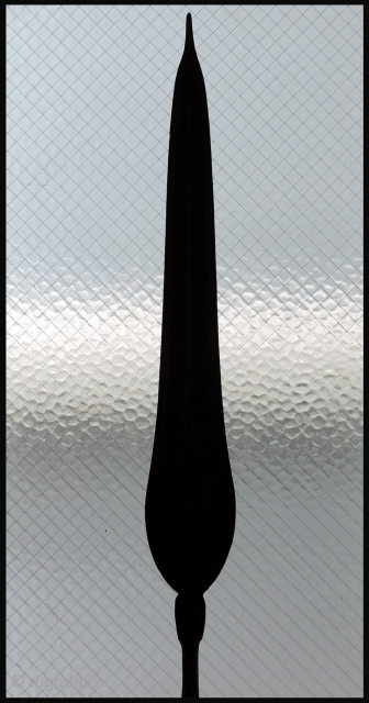 In the Congo, masterfully worked metal objects, with their roots in the functional were used as a currency of the realm. This hand forged iron object, shaped like a spear head was  ...