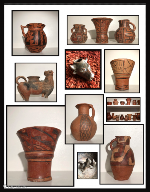 Extensive Collection of Altiplano ceramics and artifacts spanning the period between A.D. 500 - 1890.  Additional examples, images and information available upon request.