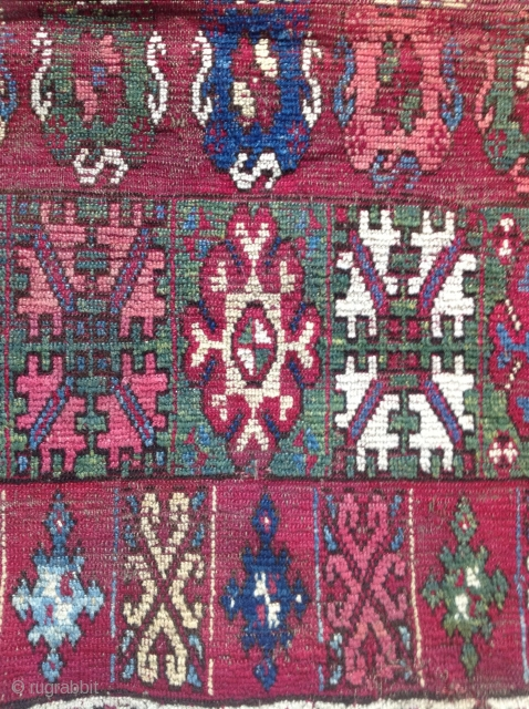 Early 19th century Rabat or Casablanca carpet fragment