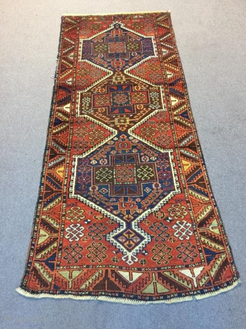 Kurdish Rug  Circa 1880  2.15 x 0.90