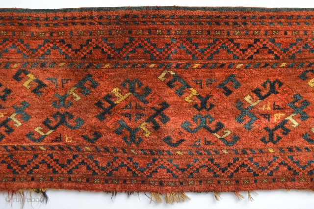 This Rare Designed Turkoman Is Availible after cleaning ,19th century  Fullpile Beautiful Colors