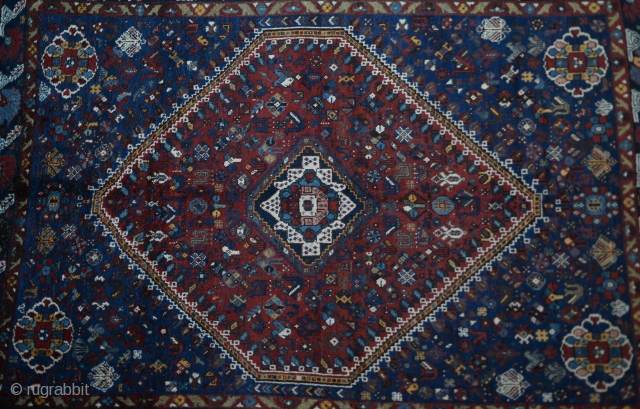 Antique Shiraz Qasqai Carpet