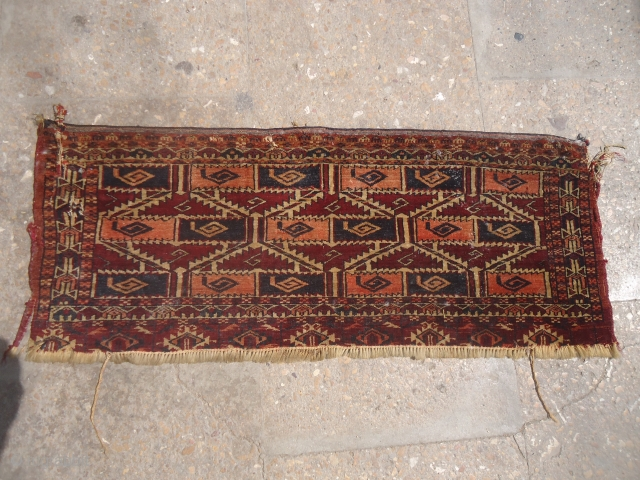 "Extra fine woven trapping with nice design,as found.Size 2ft*11"".E.mail for more info and pics."