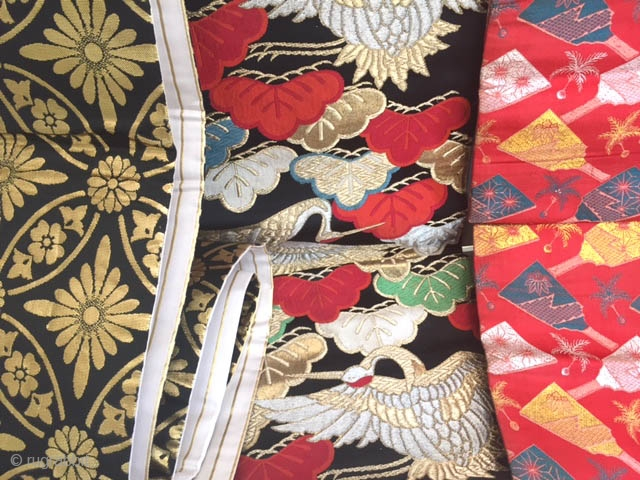 Assorted vintage Japanese Obi collection sold each or package deal . Great for re use in sewing or fashion project. More than shown.