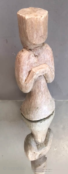Rare Steatite figure of larger than normal scale, of a female attendant.  Han period China . (see similar published versions ) Only a few of these came out and were normally  ...