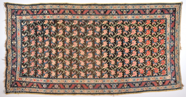 Circa 1900s or Little More Early Caucasian Karabağ Decorative Flower Design Rug.It's in Perfect Condition Size 145 x 275 Cm