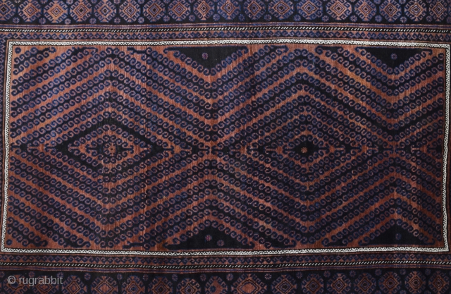 An Arabesque Circa 1890s huge Belüch Rug in very good condition.Size 180 x 310 cm Reasonable one