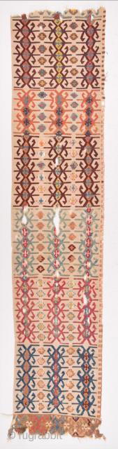 Early 19th Century Anatolian Reyhanlı Kilim Fragment Size 57 x 270 cm