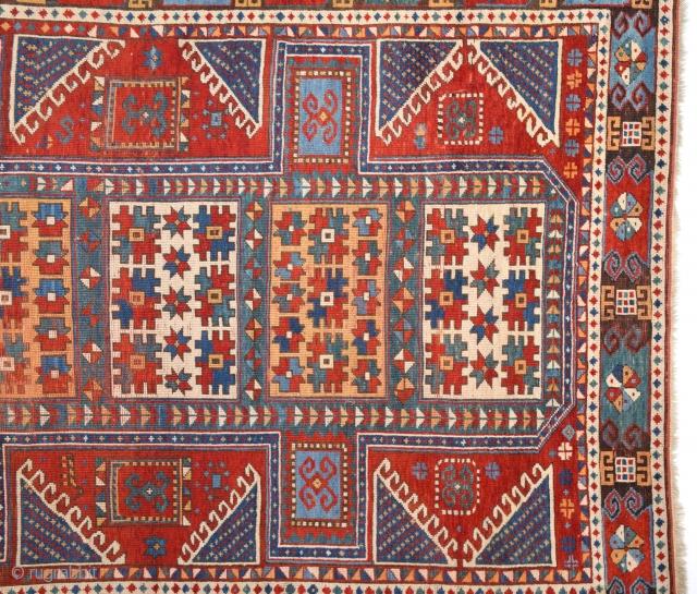 19th Century Caucasian Karatcof Rug ın Good Condition Size 158 x 208 Cm