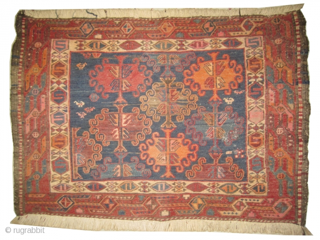 Soumak kilim, semi antique in perfect condition, decorative design.