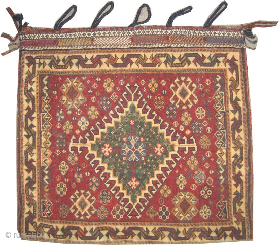 "Qashqai Persian circa 1920 semi antique, collector's item, Size: 61 x 57 (cm) 2'  x 1' 10""  carpet ID: K-5106