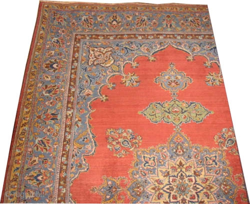 """Tabriz Persian, knotted circa in 1922, semi antique, 349 x 248 (cm) 11' 5"""" x 8' 2""""   carpet ID: P-4817 High pile, in perfect condition, the black color is oxidized, the knots  ..."""