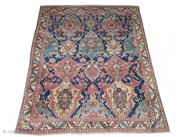"Ushak Turkish, knotted circa in 1924, semi antique, 298 x 262 (cm) 9' 9"" x 8' 7"" carpet ID: P-3238