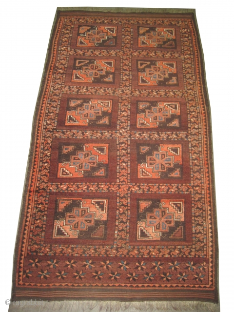 "Beshir Turkmen circa 1890 antique. Collector's item. Size: 181 x 108 (cm) 5' 11"" x 3' 6""  carpet ID: K-2270