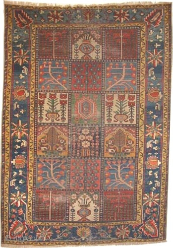 "Baktiar Persian circa 1890 antique. Collector's item, Size: 200 x 140 (cm) 6' 7"" x 4' 7""  carpet ID: K-3459