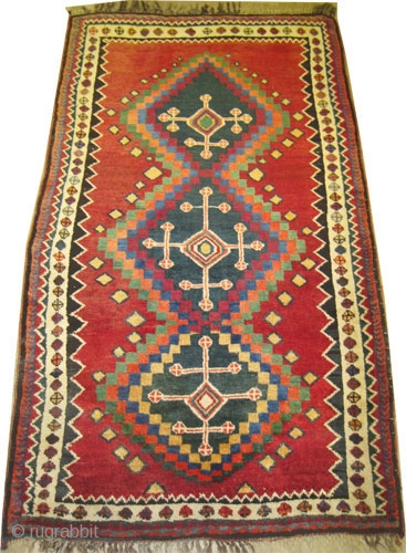"Gabbeh Nomad Persian old, collector's item. Size: 197 x 119 (cm) 6' 6"" x 3' 11"" 
