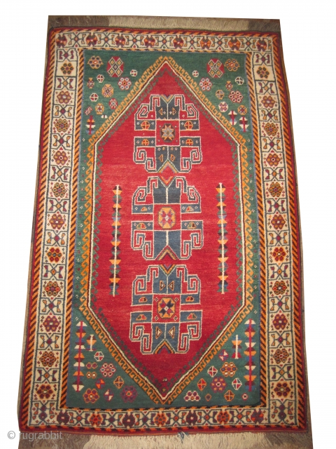 """Gabbeh Nomad Persian old. Collector's item. Size: 206 x 128 (cm) 6' 9"""" x 4' 2""""   carpet ID: M-429 Vegetable and synthetic dyes, the black color is oxidized, the knots are  ..."""