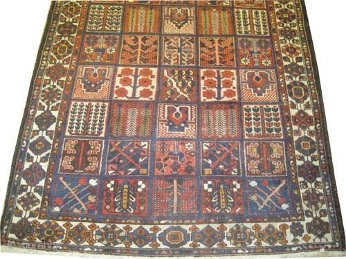 "Baktiar Persian circa 1918 antique. Size: 283 x 217 (cm) 9' 3"" x 7' 1""  carpet ID: P-6262 