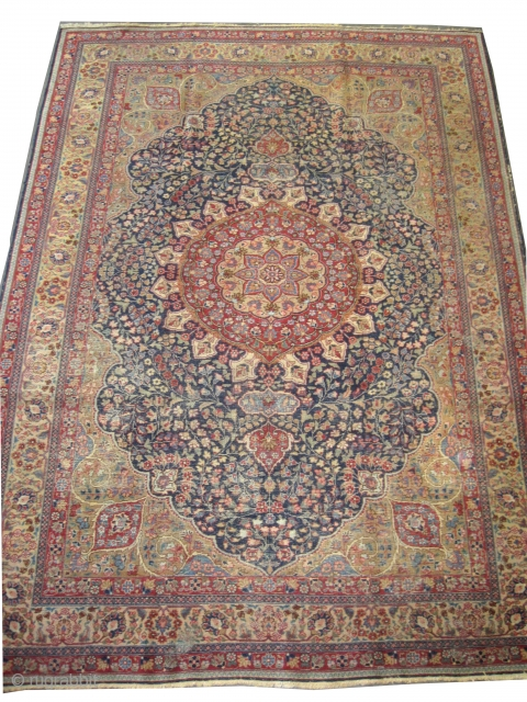 "Tabriz Persian circa 1920 antique, Size: 315 x 225 (cm) 10' 4"" x 7' 5""  carpet ID: P-4743