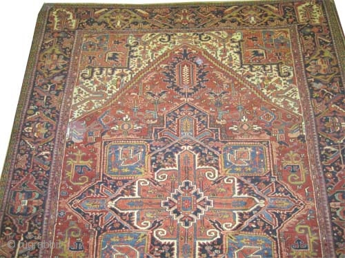 "Heriz Persian circa 1925 semi antique, Size: 405 x 288 (cm) 13' 3"" x 9' 5""  carept ID: P-414