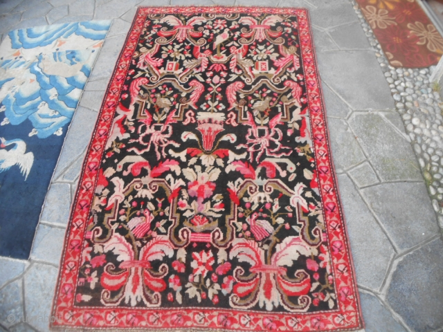 Antique KARABAGH CAUCASUS gol-farangh design.