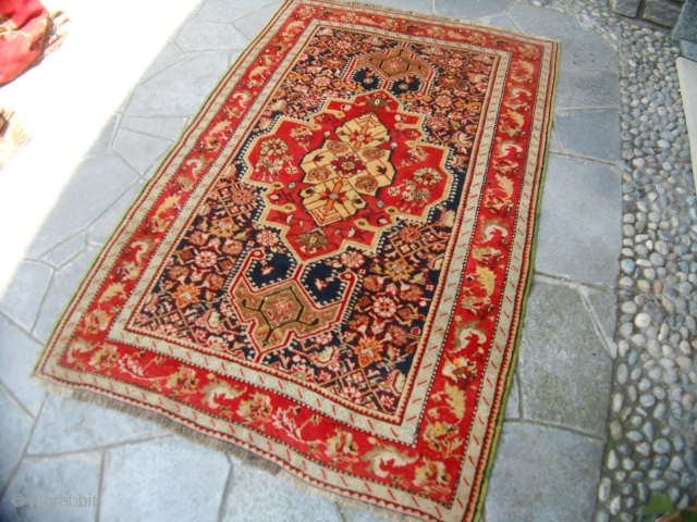 KARABAGH antique in very-very good condition. Size  189x127 cm. Washed and in perfect condition.  REGARDS from COMO !