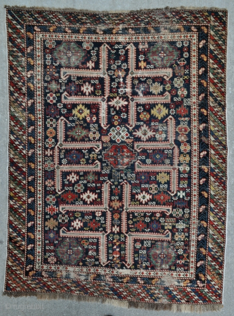 Caucasian Kuba with Afshan design - offered as found - 3'10 x 5'3 - 117 x 160 cm. - reasonably priced.
