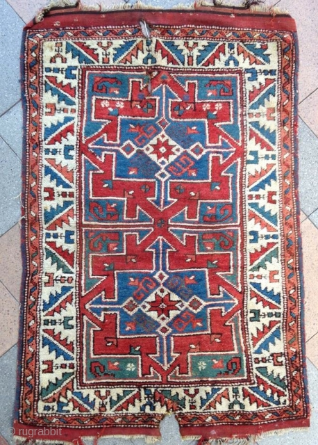 Western Anatolian Rug ( Kozak )  A very good type of that group with green color , good quality and pile !